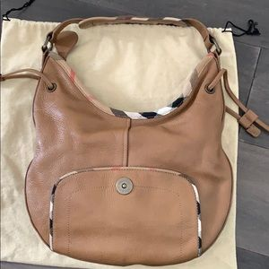 Burberry Bags - SOLD Burberry leather hobo bag brown
